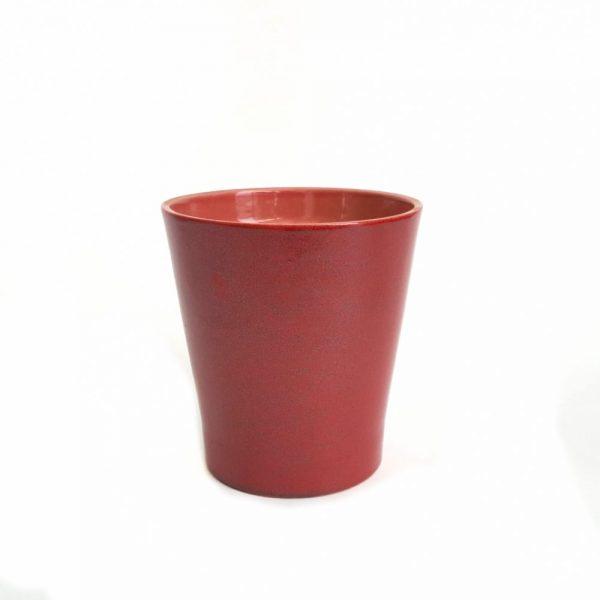 Ghiveci rosu cu sclipici din ceramica - Florăria Tria's