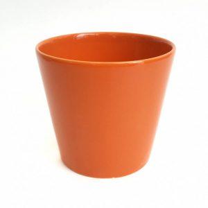 Ghiveci ceramica portocaliu 13.5 cm