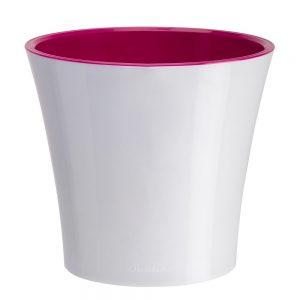 Ghiveci Santino Arte - alb-liliac 1.2 litri (13.5cm)