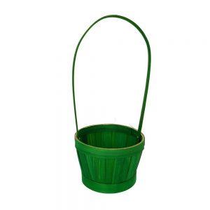 Cos verde rotund cu toarta