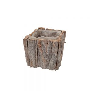Ghiveci patrat bucati de lemn nr.1