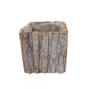 Ghiveci patrat bucati de lemn nr.2