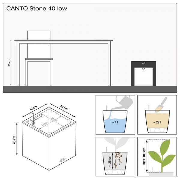 CANTO Stone 40 low sand beige
