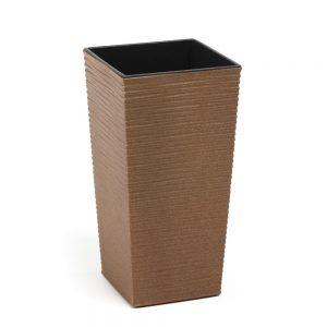 Ghiveci Lamela Finezja Eco Dluto-Set planter-Natural Lemn 25 cm